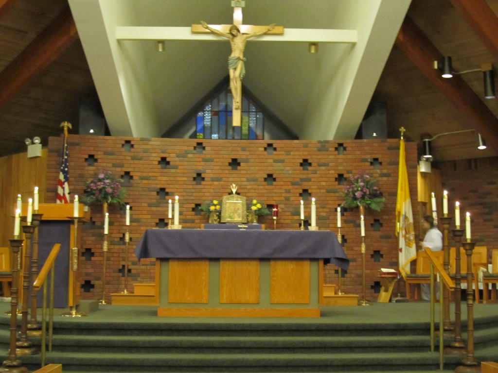 Inside Saint Patrick Church at Marsh Drive