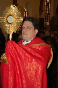 Fr. Forrey, Eucharist Adoration